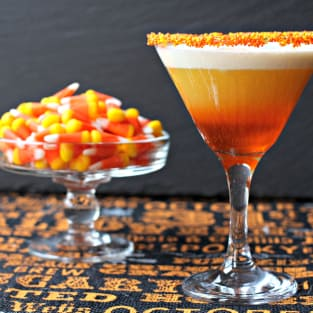 Candy corn martini photo