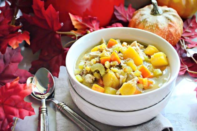 Turkey Butternut Squash and Lentil Soup Image