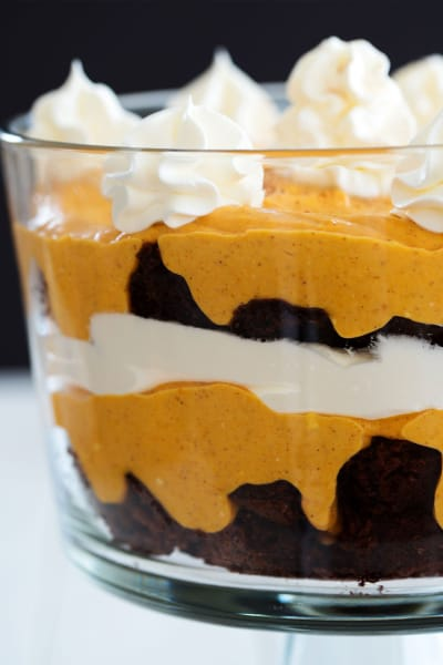 Pumpkin Brownie Trifle Picture