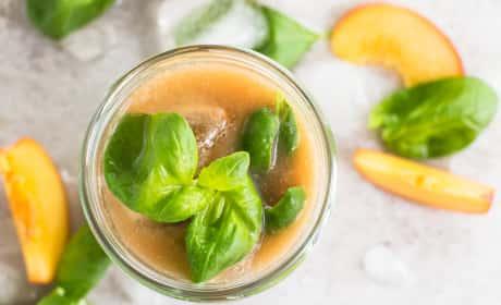 Basil Peach Agua Fresca Recipe