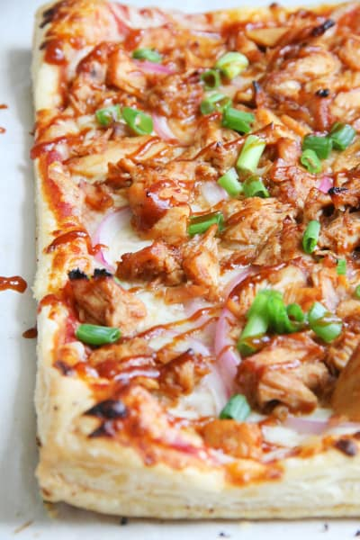 Puff Pastry BBQ Chicken Pizza Picture