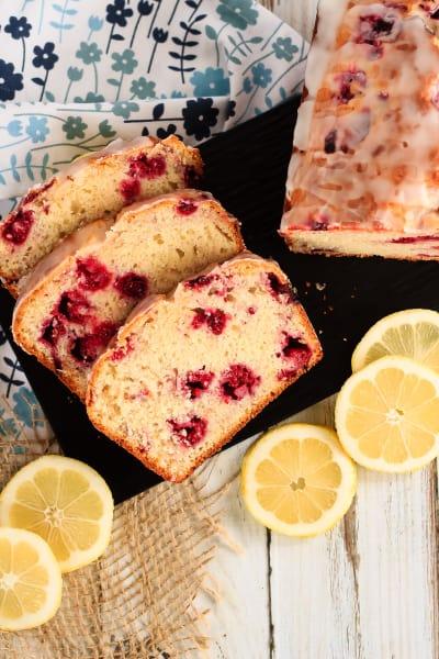 Glazed Raspberry Lemon Bread Pic