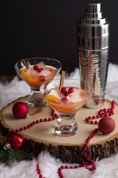 Spiced Cranberry Rum Old Fashioned Image