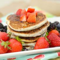 Gluten Free Pancakes with Berries Recipe