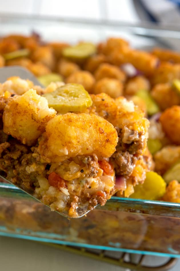 Cheeseburger Tater Tot Casserole Pic
