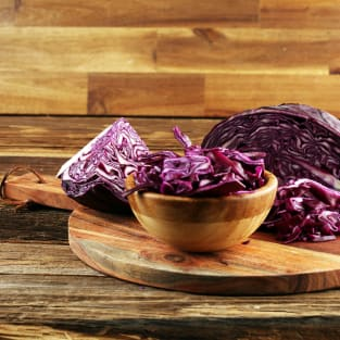 Red cabbage slaw photo