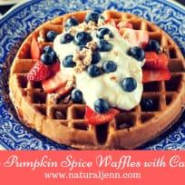 Pumpkin Spice, Gluten Free Waffles With Lavender Cream