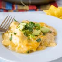 White Chicken Enchilada Skillet Recipe