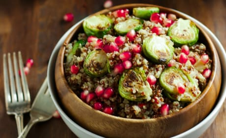 Roasted Brussels Sprouts Quinoa Salad Pic