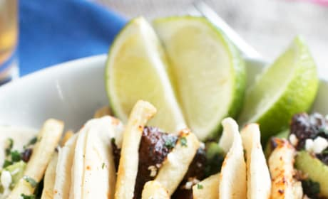 Carne Asada Steak Tacos with Fries Pic