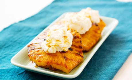 Grilled Pineapple with Mascarpone Whipped Cream Photo