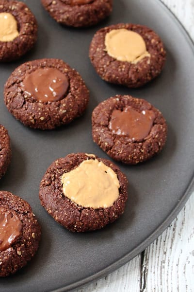 Gluten Free Chocolate Thumbprint Cookies Picture