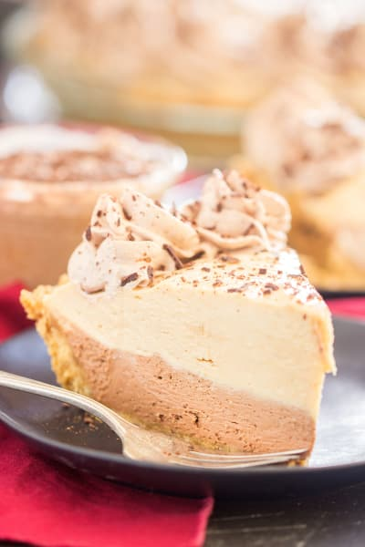 No Bake Chocolate Peanut Butter Pie Pic