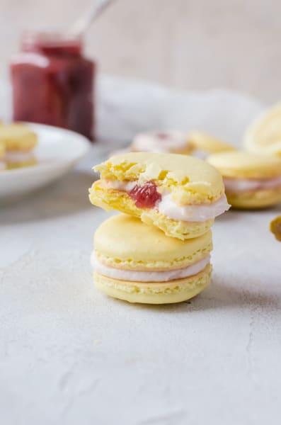 Rhubarb Lemon Macarons Pic