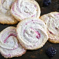 Blackberry Meringue Cookies Recipe