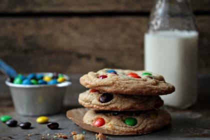Giant M&M Cookies to Welcome Spring