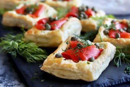Smoked Salmon Avocado Cream Cheese Pastries Recipe