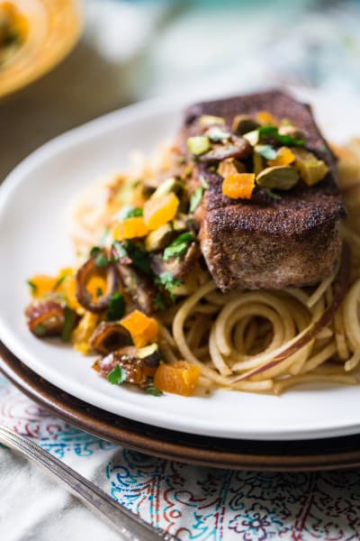 Moroccan-Style Pork with Apple Noodles Picture
