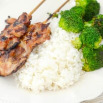 Gluten Free Teriyaki Chicken Skewers Recipe