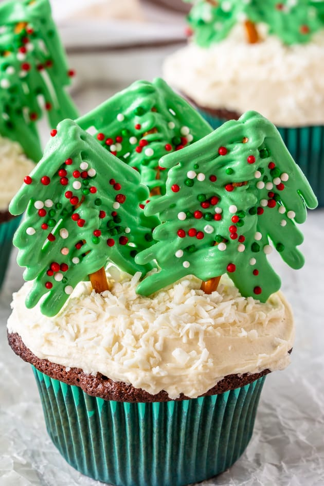 Christmas Tree Cupcakes Pic