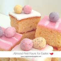 SQUARE ALMOND MINI CAKES FOR EASTER