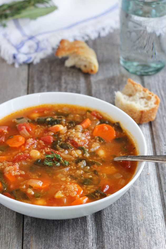 Quinoa Chickpea Spinach Soup Image