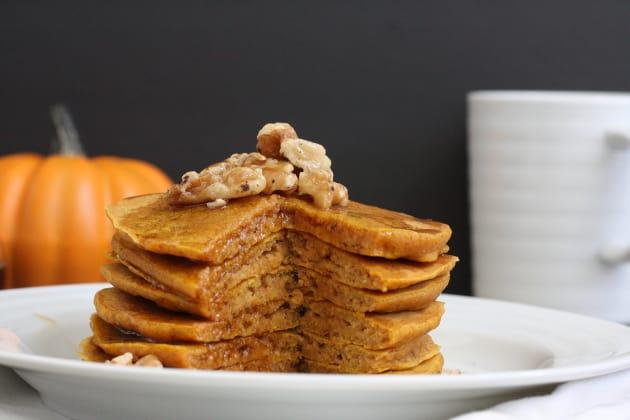Whole Grain Pumpkin Pancakes Image
