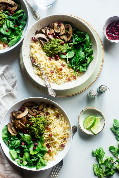 Detox Cauliflower Mushroom Bowls Image