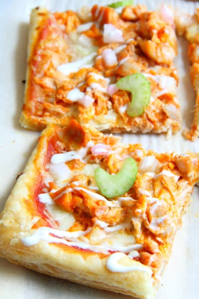 Buffalo Chicken Puff Pastry Pizza Picture