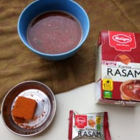 Rasam soup with instant rasam cube