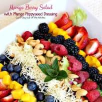 Mango Berry Salad with Mango Poppyseed Dressing