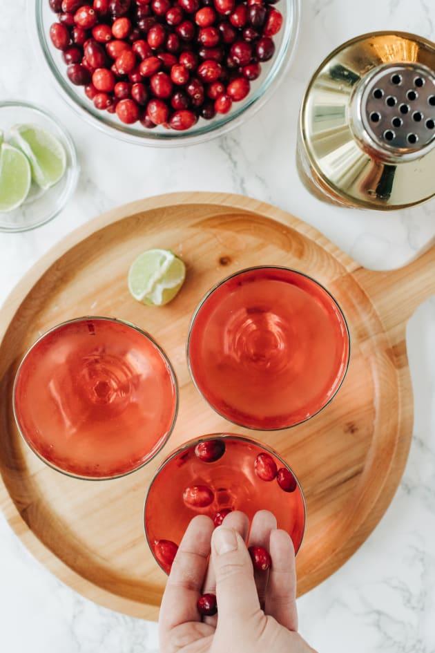 Cranberry Gimlet Cocktail Photo