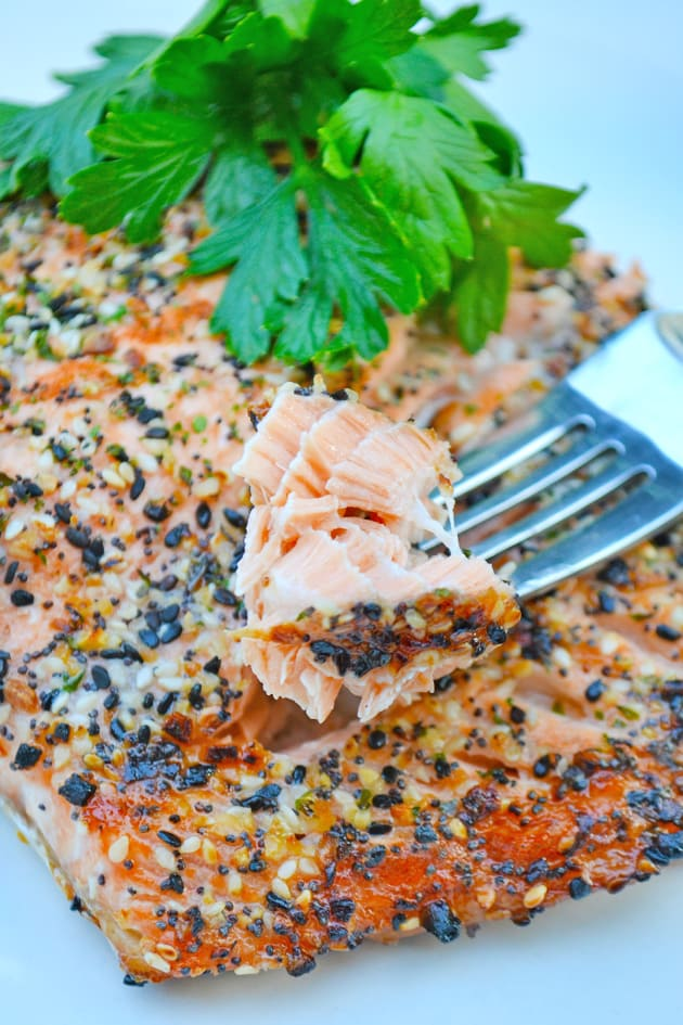 Roasted Salmon with Everything Bagel Spice Picture