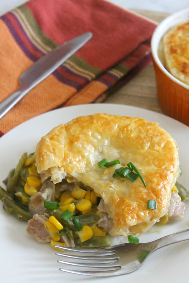 Leftover Turkey Puff Pastry Pot Pies Image