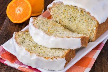 Frosted Orange Poppy Seed Bread