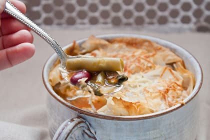 Minestrone Pot Pie for Two