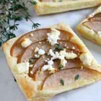 Pear Thyme Feta Tarts Recipe