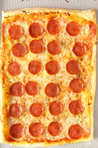 Puff Pastry Pepperoni Pizza Picture