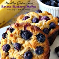 Healthy Gluten Free Banana Blueberry Muffins