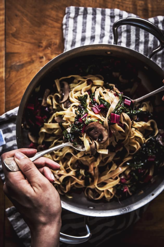 Mushroom Swiss Chard Pasta Pic