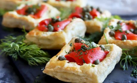 Smoked Salmon Avocado Cream Cheese Pastries Photo