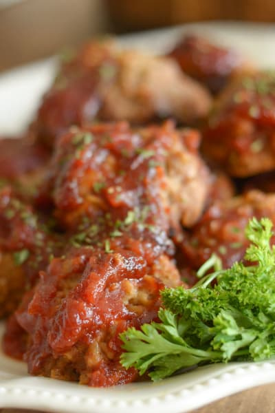 Gluten Free Slow Cooker Tangy Turkey Meatballs Picture
