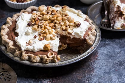 Boozy Chocolate Hazelnut Cream Pie