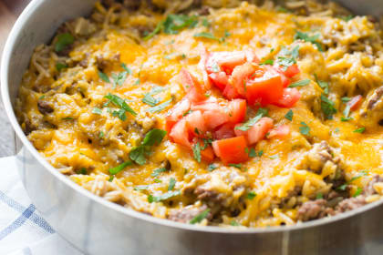 Easy Cheeseburger Skillet