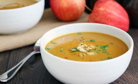 Curried Butternut Squash and Apple Soup Recipe