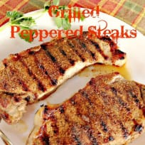 Grilled Peppered Steaks