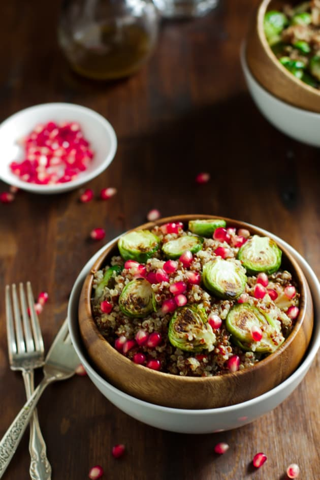 Roasted Brussels Sprouts Quinoa Salad Image