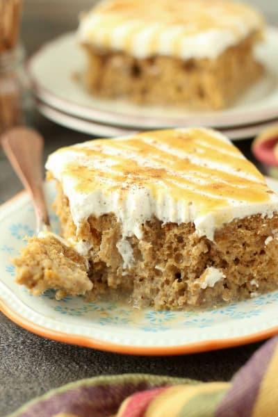 Pumpkin Spice Latte Poke Cake Image