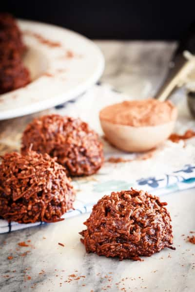 Chocolate Coconut Macaroons Image