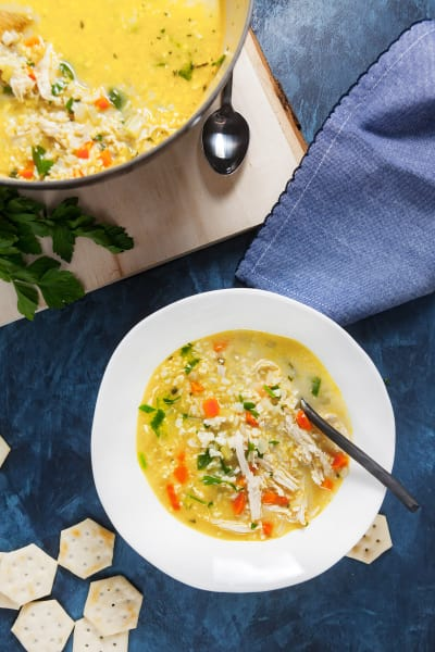 Chicken Cauliflower Rice Soup Image